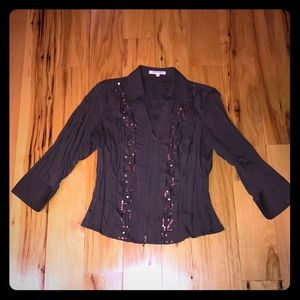 Beautiful embellished blouse bought in Paris XS/S